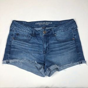 American Eagle Stretch Shortie Shorts Size 12